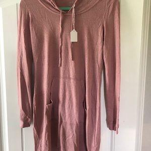 SOHO hooded sweater mini dress by New York & Comp
